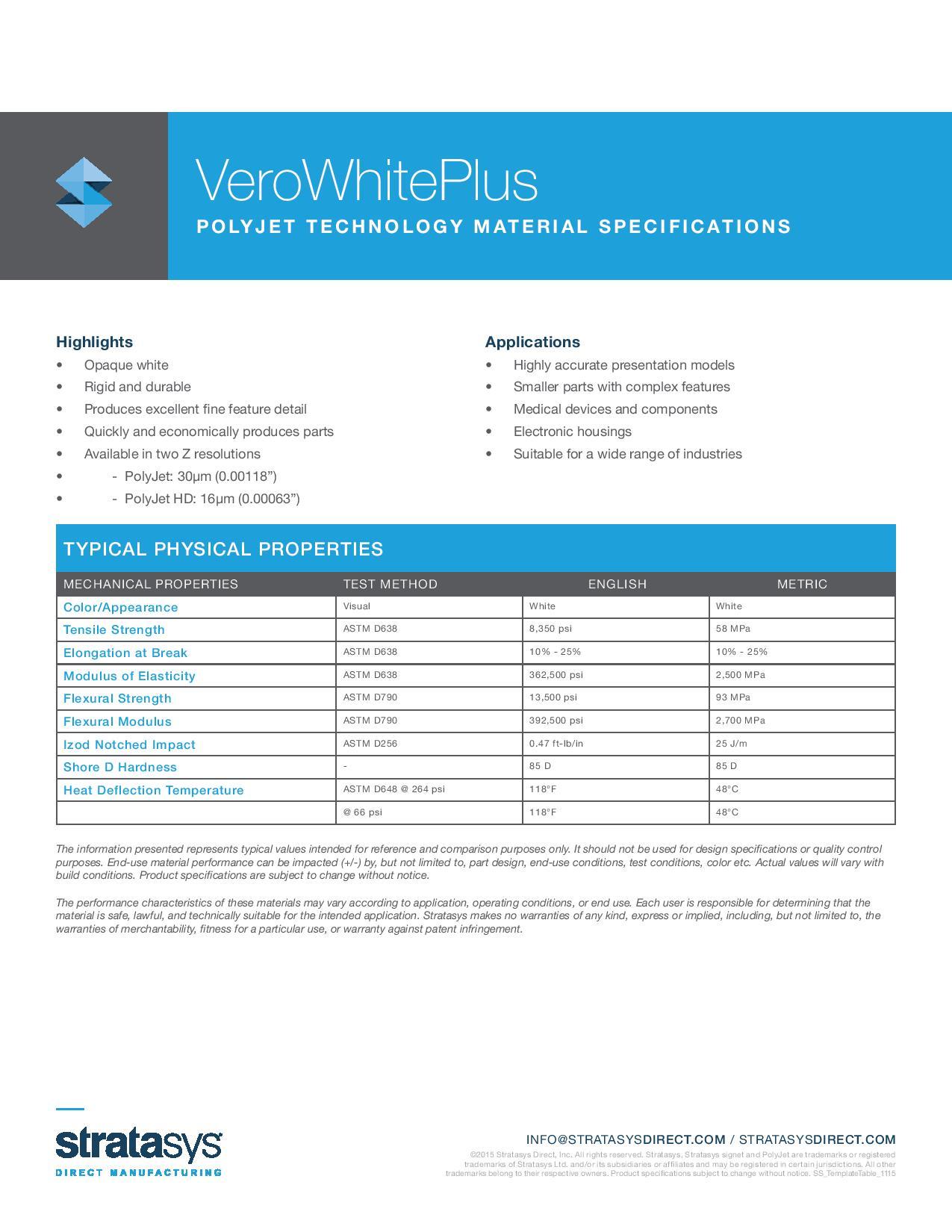PolyJet_VeroWhitePlus_Material_Spec